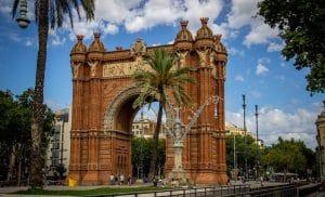 El Arco de Triunfo en Barcelona