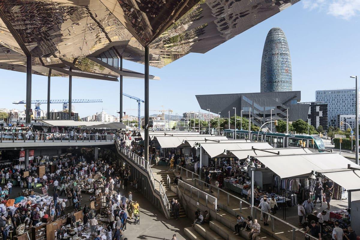 best flea markets in barcelona - encants barcelona